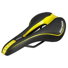 OUTERDO New Bicycle Saddle Professional Road MTB Gel Comfort Saddle Bike Bicycle Cycling Seat Cushion Pad 2715CM More color Black&Yellow >>> You can find more details by visiting the image link.