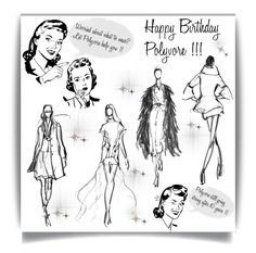"""Happy Birthday Polyvore'"" by dianefantasy ❤ liked on Polyvore featuring art"