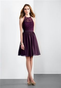 Plum eggplant bridesmaid dress off the shoulder Dessy Collection ...