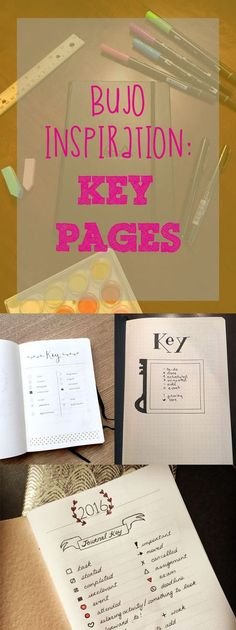 Inspiration for beginning your bullet journal, look at numerous key pages all in one post.