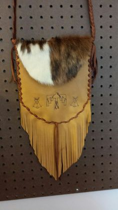 Deer Hide With hair on cowhide Bag by Marsha Tate-Donnell