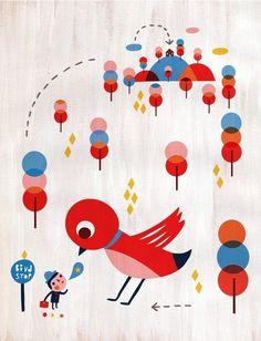 Bird Stop - Ice Cream Rain @ Etsy