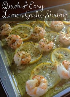 Quick & Easy Lemon Garlic Shrimp - so quick and easy and so few ingredients!