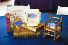 A centerpiece for a Fairytale party.  Each table had a different fairytale centerpiece.