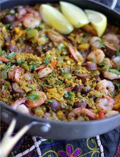 "30 Minute Freekeh paella. Simply yummy. The recipe is from the book ""30 Ways to Freekeh!"" available at www.freekeh-foods.com"