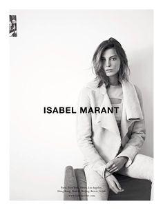 Campañas publicitarias moda otoño invierno 2013 2014 - daria werbowy - isabel marant - karim sadli - marie amelie sauve