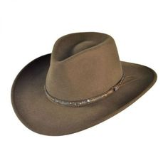 776dd142 Stetson Mountain Sky Crushable Outback Hat All Fedoras Country Hats,  Country Style, Leather Hats