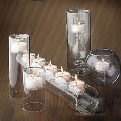 New Fashion !  5 pcs/set Modern Glass Candle holders Table Dinner Wedding Holiday Christmas theme Gift