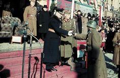 A kormányzó kezet fog a bevonuló csapatok tisztjeivel. Tiger Tank, Defence Force, The Third Reich, Eastern Europe, World War Ii, Wwii, Army, History, Photographs