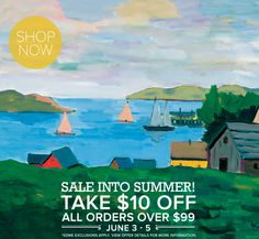 SALE into Summer with our Stretched Canvas Art Flash Sale! Save $10 on all orders over $99 (+ free shipping) including our Decorative Table Lamps, Designer Wall Decals, Adhesive Oversize Wall Murals, and more!