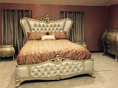 Classic Wing Back Button Tufted Bedroom Collection HD-20