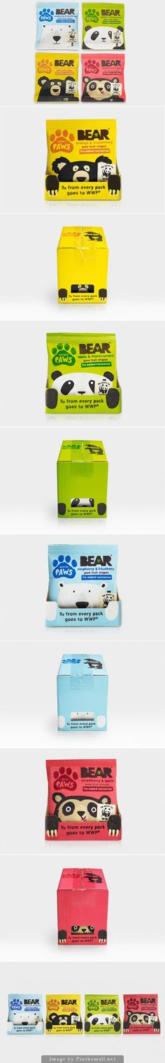 Bear Paws up close and cuddly packaging and for a good cause too curated by Packaging Diva PD Kids Packaging, Honey Packaging, Food Packaging Design, Coffee Packaging, Bottle Packaging, Packaging Design Inspiration, Brand Packaging, Packaging Snack, Chocolate Packaging