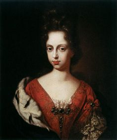 GABBIANI, Anton Domenico  Portrait of Anna Maria Luisa de' Medici as a Young Woman  c. 1685  Oil on canvas, 96 x 87 cm  Galleria Palatina (Palazzo Pitti), Florence
