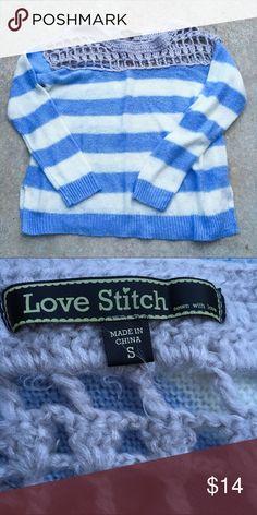 💙Reduced💙 Love Stitches Blue & White Sweater Love Stitches Blue & White Sweater UGG Sweaters
