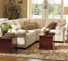 Buchanan Upholstered Right 3-Piece Small Sectional with Corner Wedge, Polyester traditional sectional sofas