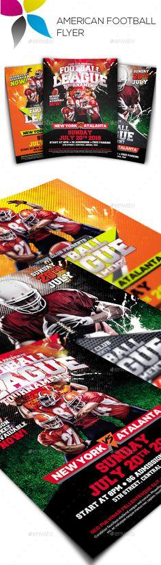 American Football Flyer Template Flyer template, American football