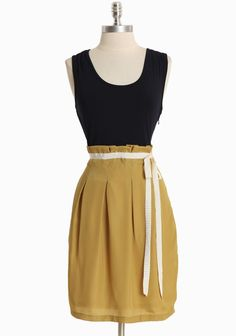 The color combination and waistline are to-die-for. Oh gosh.    [Emilia Colorblocked Dress]