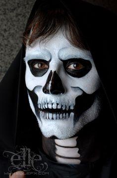 face painted skeleton face | Skull Face Paint by ElleFX on deviantART