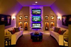 Cool theater room!