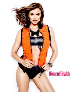 Lauren Cohan shows off her fit body for Women's Health magazine.