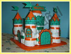 PAÑALES PARA REGALAR: Castillo de pañales