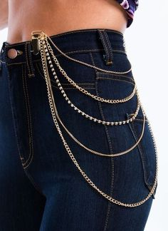 Draped Strands Clipped Body Chain- really like this one