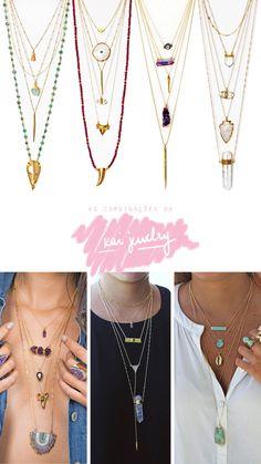 Inspiração: combinação de colares
