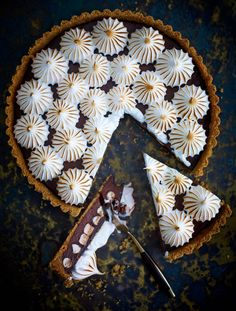 Chocolate Meringue Tart