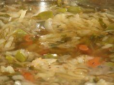 Przepis na zupa kapuściana - dla osób będących na diecie kapuścianej i nie tylko. Kapustę opłukać i drobno poszatkować. Cebulę obrać, opłukać i pokroić w kostkę. Do garnka wlać 1/2 litra wody. Wrzucić do niej kapustę i cebulę.