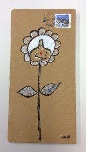 """La flor"" Campaña #sanvalentin postales personalizadas de #aroideas  http://www.aroideas.com/postales/"