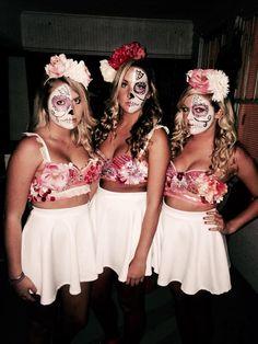 halloween sugar skulls day of the dead dolls dis de los mortes