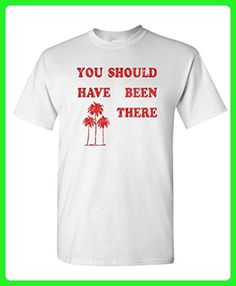 YOU SHOULD HAVE BEEN THERE - retro tommy - Mens Cotton T-Shirt, M, White - Retro shirts (*Amazon Partner-Link)
