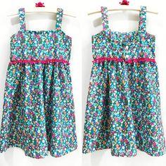 """Vestido Infantil Estampa Liberty - Cute Baby & kids (@cutebabykidsbrand) no Instagram: """"Vestido Liberty Azul 😍😍😍😍😍 feito em tricoline 100% algodão, bem fresquinho para as princesas…"""""""