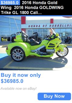 motorcycles And scooters: 2016 Honda Gold Wing 2016 Honda Goldwing Trike Gl 1800 California Sidecar Csc Hr Signature Series BUY IT NOW ONLY: $36985.0