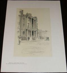 Fine Original 1922 Print of House # 7 State Street , New York by O.R. Eggers