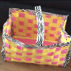 Duck tape basket! Email for directions....shells1030@gmail.com