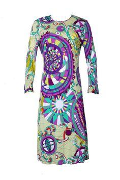 Vintage Emilio Pucci dress looks like a kaleidescope carnival!