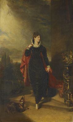 """Princess Charlotte (1796-1817)"", after George Dawe, ca. 1817; Royal Collection…"