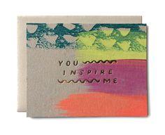 Peints à la main aggloméré plat carte avec feuille dor. Illustrées et imprimées dans notre studio de Iowa basé. Taille de la carte : plat carte de 5,5 x