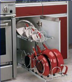 Amazon.com: Rev-A-Shelf 5CW2-1222-CR Two-tier Cookware Organizer - Metal-Chrome: Home & Kitchen