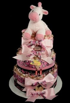 This is a standard 3 tier diaper cake and is ready for gifting. Description from ecrater.com. I searched for this on bing.com/images