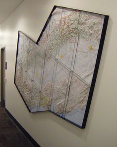 Wall map installation at a major utility company. | Yelp