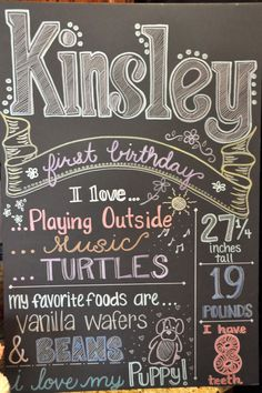 Keeping Up With The Morgans: DIY Birthday Chalkboard Tutorial