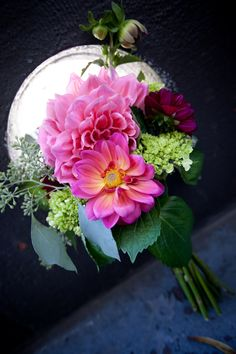 Dahlia Bouquet- love the types of dahlias in this bouquet