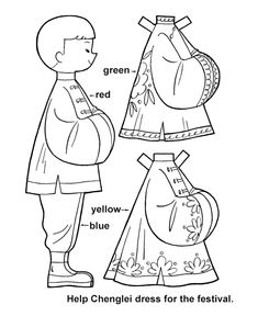 paper dolls cut outs | BlueBonkers - Youth Activity Sheets - Paper Dolls - Chinese Boy
