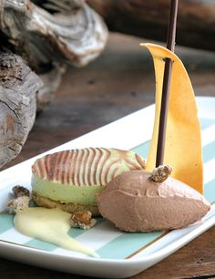 Dessert Professional | The Magazine Online - Pistachios Bavarois with Milk Chocolate Chantilly