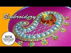 Embroidery Beadwork Paisley || Вышивка бисером Пейсли - YouTube Simple Embroidery, Embroidery Monogram, Hand Embroidery Stitches, Embroidery Techniques, Beaded Embroidery, Handmade Embroidery Designs, Design Youtube, Paisley, Braid Patterns