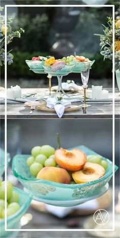 Green fruit bowl stand, 1 piece