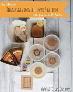thanksgiving leftover station (with free printable leftover labels)