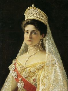 "Empress Alexandra Feodorovna (nee Princess Alix of Hesse), consort of Emperor Nicholas II of Russia. """